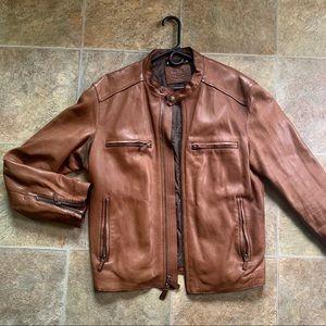Men's Leather Coach Jacket